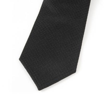 Dassault Aviation Black Silk Tie