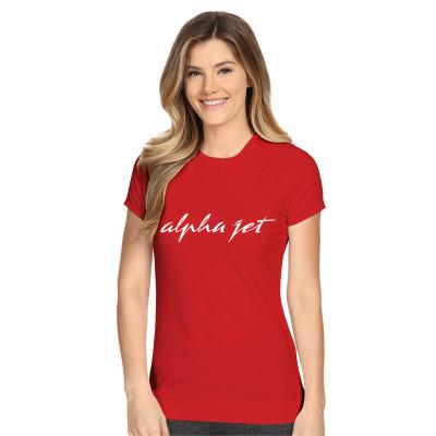 Tee-shirt Alpha Jet rouge