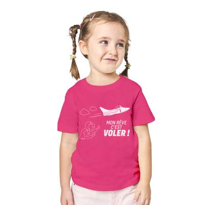 Tee-shirt enfant rose