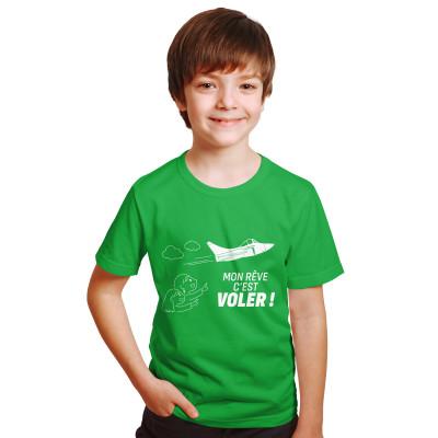 Tee-shirt enfant vert