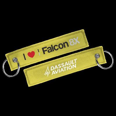 Porte-clés I love Falcon 8X