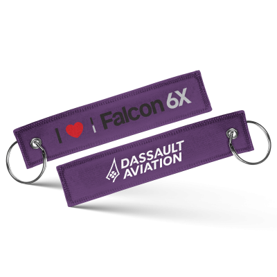 Porte-clés I love Falcon 6X