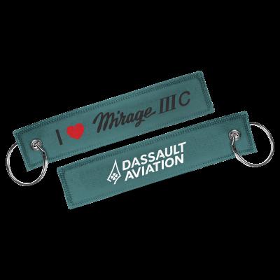 Porte-clés I love Mirage IIIC