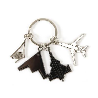 Porte-clés 3 avions delta trèfle Dassault Aviation